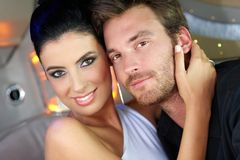 Portrait of beautiful loving couple Royalty Free Stock Image