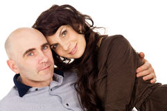 Portrait of beautiful loving couple Royalty Free Stock Photography