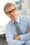 Portrait of beautiful man with eyeglasses Royalty Free Stock Photo