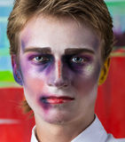 Portrait of beautiful man with make-up Royalty Free Stock Photography