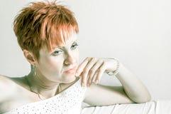 Portrait of a beautiful mature woman Stock Photography