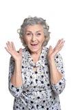 Portrait of beautiful mature woman Royalty Free Stock Image