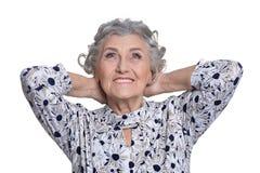 Portrait of beautiful mature woman Royalty Free Stock Photos