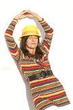 Portrait confident mature woman colourful Stock Photos
