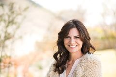 Beautiful middle age woman smiling. Stock Images