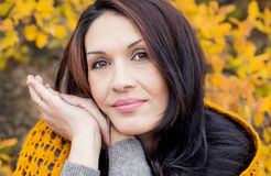 Portrait of beautiful middle age woman royalty free stock image