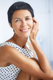 Beautiful middle aged woman. Portrait of beautiful middle aged woman Royalty Free Stock Photography