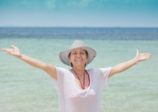 Portrait of a beautiful middle-aged woman Royalty Free Stock Photography