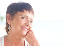Portrait of a beautiful middle-aged woman Royalty Free Stock Images