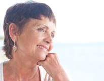 Portrait of a beautiful middle-aged woman Royalty Free Stock Image