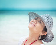 Portrait of a beautiful middle-aged woman Stock Photo