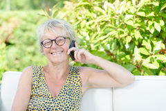Portrait of a beautiful middle-aged woman Stock Photography