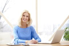 Businesswoman working from home Royalty Free Stock Photo