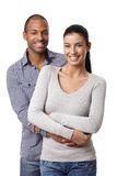 Portrait of beautiful mixed race couple smiling Stock Photos