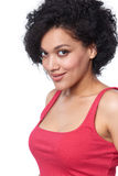 Portrait of beautiful mixed race woman looking at camera Stock Photo