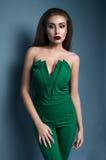 Portrait of beautiful model in fashion clothes in studio Stock Photo