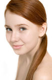 Portrait of beautiful model with young fresh skin Royalty Free Stock Photos