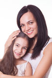Portrait of beautiful mother and daughter Stock Images