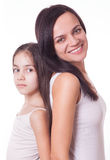 Portrait of beautiful mother and daughter Royalty Free Stock Image