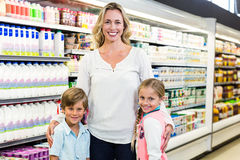 Portrait of beautiful mother with her children Royalty Free Stock Photo
