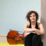 Portrait of a beautiful musician Stock Photos