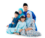 Muslim family. Portrait of beautiful muslim family royalty free stock photo
