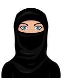 Muslim Woman Wearing a Niqab Royalty Free Stock Images