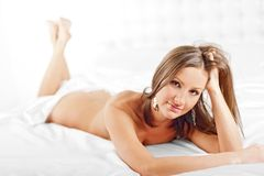 Portrait of a beautiful naked girl Royalty Free Stock Images