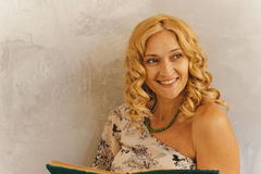 Portrait. Beautiful nice curly woman Royalty Free Stock Photography