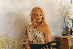 Portrait. Beautiful nice curly woman Royalty Free Stock Image