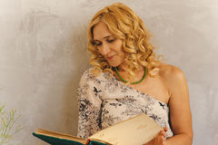 Portrait. Beautiful nice curly woman Royalty Free Stock Images