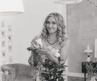 Portrait. Beautiful nice curly woman Stock Photo