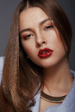 Portrait of Beautiful Nice Looking Well-Groomed Woman royalty free stock photo