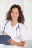 Portrait of beautiful nurse Stock Photos