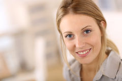 Portrait of beautiful office worker Stock Photos