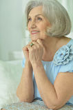 Portrait of beautiful old woman Royalty Free Stock Images