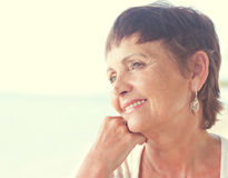 Portrait of a beautiful older woman Stock Photos