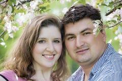 Portrait of beautiful pair Stock Photos