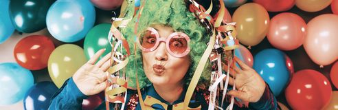 Crazy Young Party Man - Photo Booth Photo.  royalty free stock images