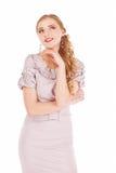 Portrait of a beautiful pensive businesswoman looking away Stock Photos