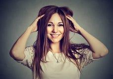 Portrait beautiful pierced young woman Stock Photos