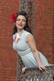Portrait of a beautiful pin up girl Royalty Free Stock Image