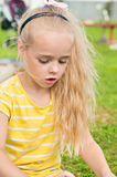 Portrait of beautiful playing little girl Stock Photography