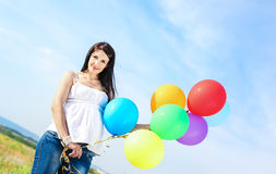 Portrait of a beautiful pregnant woman Stock Photo
