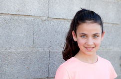 Portrait of a beautiful preteen girl with blue eyes Royalty Free Stock Photos