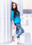 Portrait of beautiful pretty young girl Stock Images