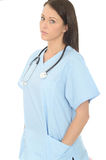 Portrait Of A Beautiful Professional Serious Young Female Doctor Looking Concerned Royalty Free Stock Photos