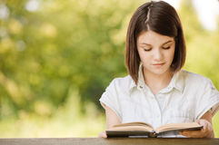 Portrait of beautiful reading Stock Image