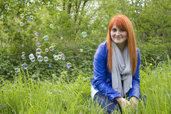 Portrait of beautiful red-haired girl Royalty Free Stock Photo
