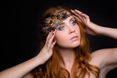 Portrait of a beautiful red-haired girl Royalty Free Stock Image